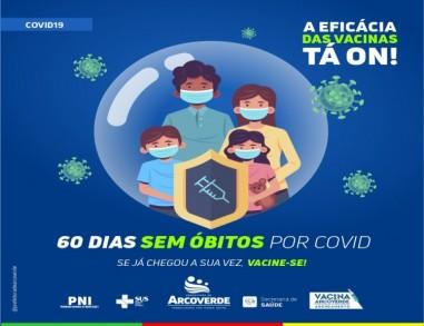 Arcoverde: 60 dias sem mortes pela covid e primeiro dia sem novas infecções desde o início da pandemia