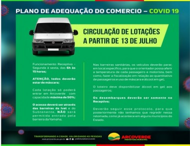 Arcoverde flexibiliza lotações intermunicipais com 50% da capacidade de passageiros