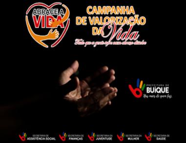 Buíque promove campanha 'Abrace a Vida' com vários eventos