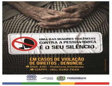 Pernambuco lança campanha de enfrentamento à violência contra a pessoa idosa